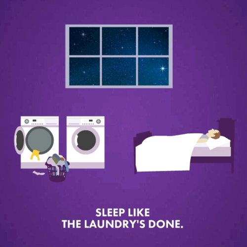 Sleep Like The Laundry's Done