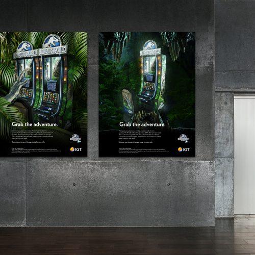 Jurassic World Video Slots Poster